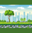 seamless cartoon background with separate layers vector image vector image