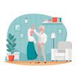 senior elderly people activity cartoon vector image