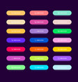 set 21 colorful flat buttons for website and vector image vector image