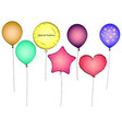 set toy balloon or party balloon pop art vector image