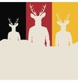 Silhouettes of hipsters vector image vector image