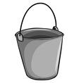 Small grey bucket vector image