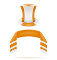 soccer football fans attribute scarf and hat vector image vector image