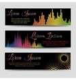 Soundwaves horizontal banners vector image