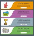 sport game banner templates set vector image