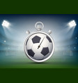 sports stopwatch with a soccer ball on the vector image vector image