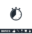 Stopwatch icon flat vector image