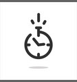 stopwatch icon or timer pictogram with fast time vector image vector image