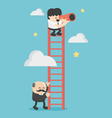 Successful businessman helps another businessman vector image