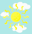 sun in clouds vector image