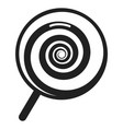 swirl lollipop icon simple style vector image vector image