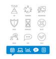 teamwork presentation and dialog icons vector image vector image