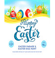 template easter eggs poster vector image vector image