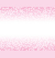 the light pink square mosaic tiles background vector image vector image