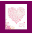 Valentines day background Invitation card vector image vector image