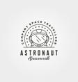 vintage astronaut helmet head logo symbol vector image vector image