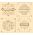Vintage logo templates with Flourishes Elegant vector image vector image