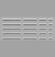 white empty shelf on wall bookshelf isolated vector image vector image