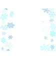 winter snowflakes border card background vector image