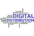 word cloud - digital distribution vector image vector image