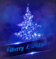 Christmas tree made of light particles vector image