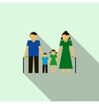 Grandparents with their grandchildren icon vector image
