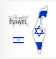 israel flag and map vector image