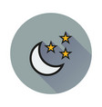 moon and stars icon on white background vector image