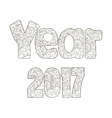 2017 year inscription coloring vector image vector image