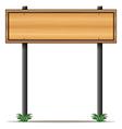 A rectangular wooden signboard vector image vector image