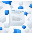 Abstract 3d cube background vector image vector image