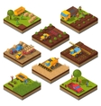 Agricultural Machines Isometric Field Set vector image vector image