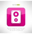 Audio system icon in modern flat design Clean and vector image vector image