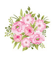 beautiful peony bouquet rose vector image