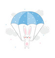 beautiful sticker with a rabbit vector image