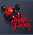 black friday sale background with one red and vector image