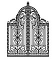 black metal gate vector image vector image