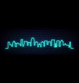 blue neon skyline louisville city bright vector image vector image