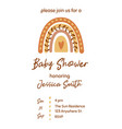 boho bashower invitation template with cute vector image vector image