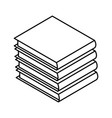 books piled up 3d vector image vector image