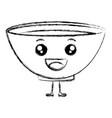 bowl with recipe kawaii character vector image