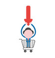 businessman character holding up discount arrow vector image vector image