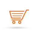 cart icon buy in online shop basket for grocery vector image