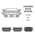 changdeokgung icon in cartoon style isolated on vector image