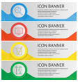 chemical laboratory banner templates set vector image