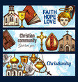 christianity religion and religious objects vector image vector image