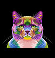 colorful cat on pop art style vector image vector image