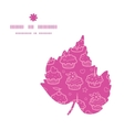 colorful cupcake party leaf silhouette pattern vector image vector image