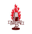 comedy show emblem template design element for vector image
