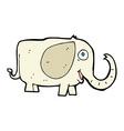 comic cartoon baby elephant vector image